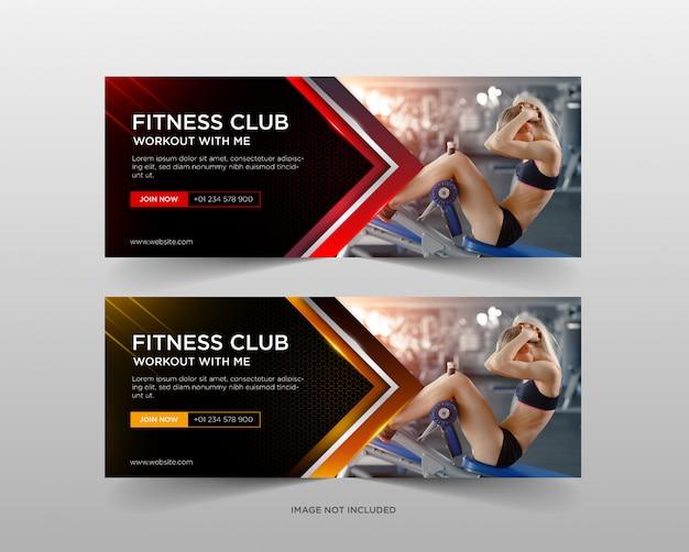 Modèle de bannière promotion de gym