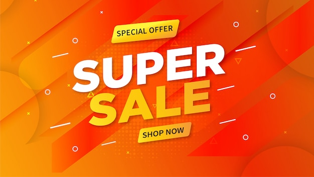 Modèle de bannière de promotion de super vente