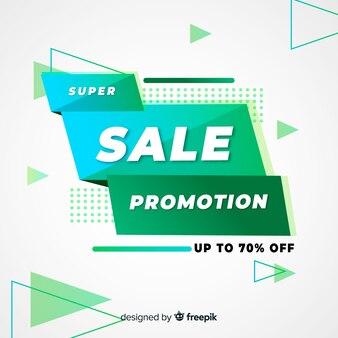 Modèle de bannière de promotion vente abstraite