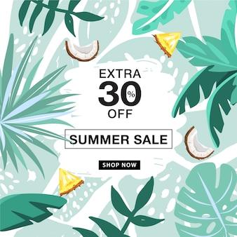Modèle de bannière de promotion de vente d'été