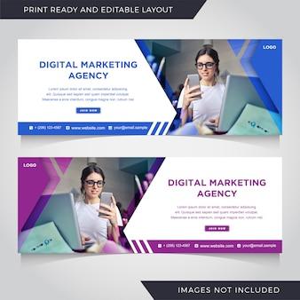 Modèle de bannière de publication instagram pour les médias sociaux et les entreprises