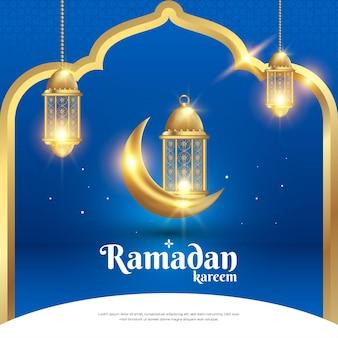 Modèle de bannière de publication de médias sociaux de vente de ramadan