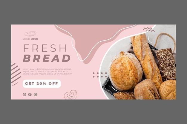 Modèle de bannière publicitaire de boulangerie