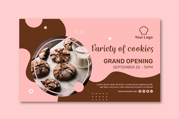 Modèle de bannière publicitaire de cookies