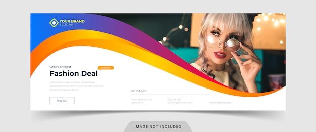 Modèle de bannière publicitaire de page facebook promotionnelle de vente de mode