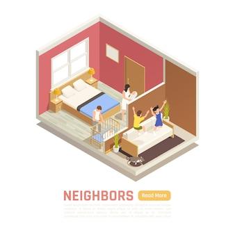 Modèle de bannière de relations de voisinage