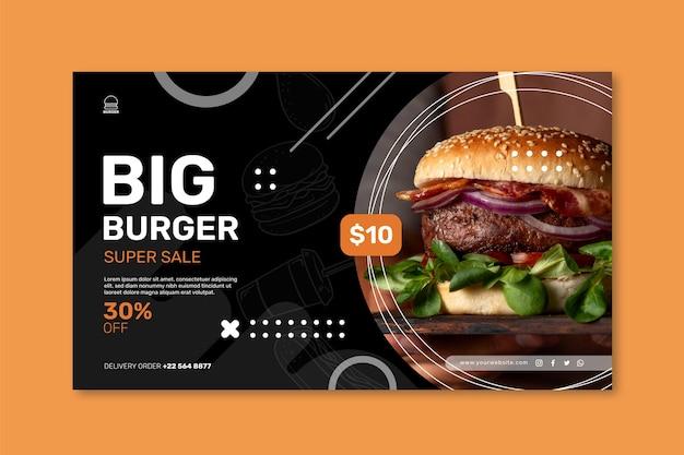 Modèle de bannière de restaurant de hamburgers