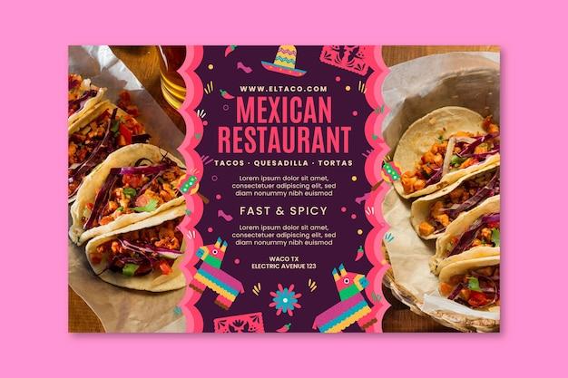 Modèle de bannière de restaurant mexicain