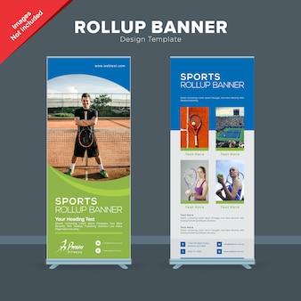 Modèle de bannière rollup sports club