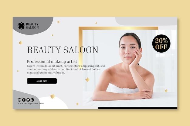 Modèle de bannière de salon de beauté