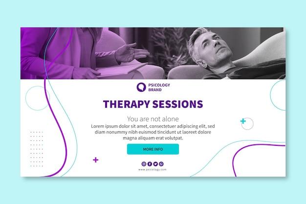 Modèle de bannière de séances de thérapie