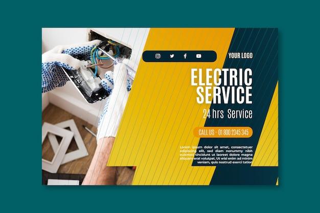 Modèle de bannière de service électricien