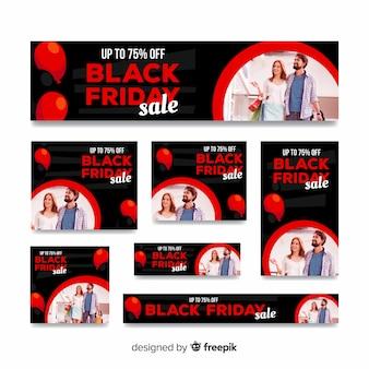 Modèle de bannière de site web vendredi noir