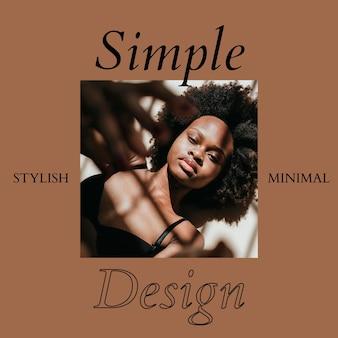 Modèle de bannière sociale de mode design élégant et minimal