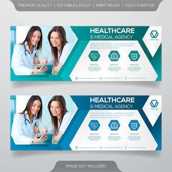 Modèle de bannière de soins de santé