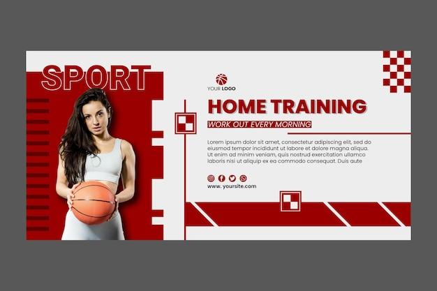Modèle de bannière de sport à la maison