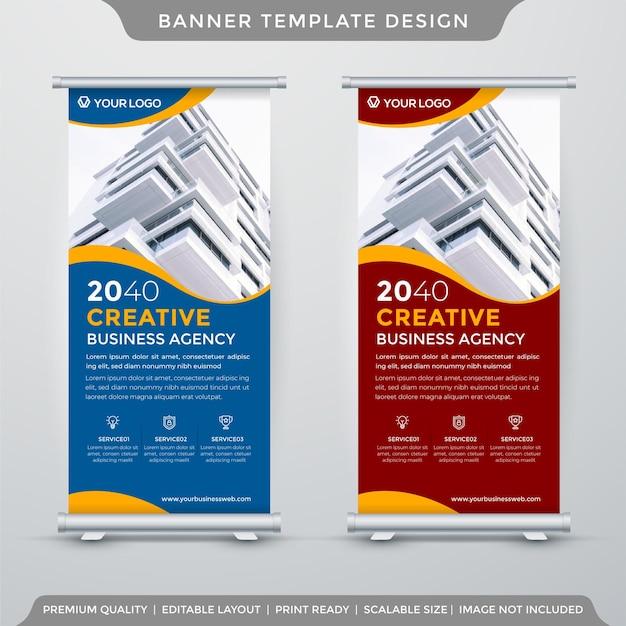 Modèle de bannière de stand commercial style premium