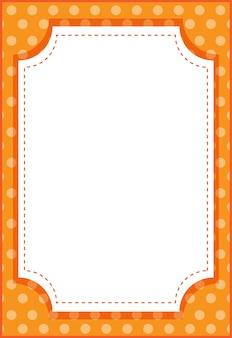 Modèle de bannière de style dessin animé cadre octogone vertical vide