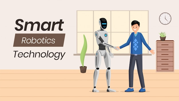 Modèle de bannière de technologie ai futuriste.