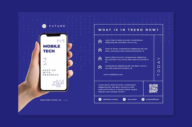 Modèle de bannière de technologie mobile