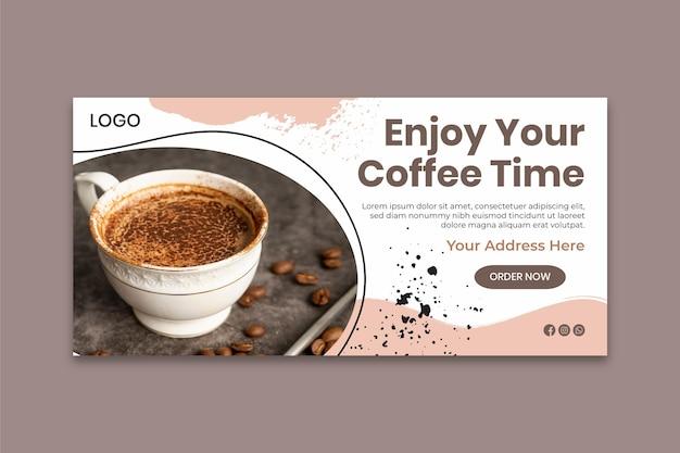 Modèle de bannière de temps de café