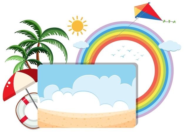 Modèle de bannière de thème d'été