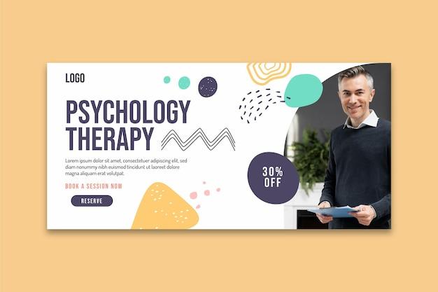 Modèle de bannière de thérapie psychologie