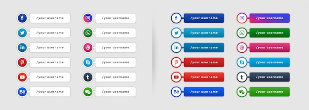 Modèle de bannière de tiers inférieur de médias sociaux populaires