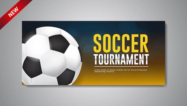 Modèle de bannière de tournoi de football de conception