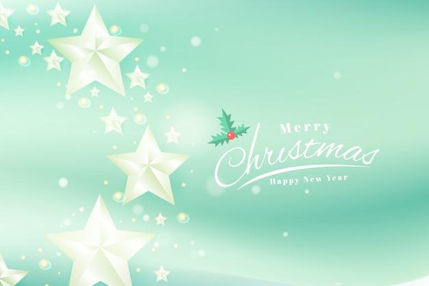 Modèle de bannière de typographie joyeux noël et bonne année cartes de voeux