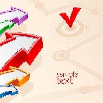 Modèle de bannière de vecteur de flèches d'affaires avec place pour le texte