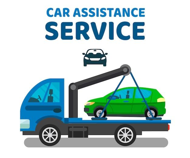 Modèle de bannière de vecteur pour le service d'assistance automobile