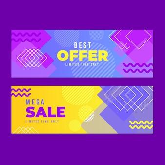 Modèle de bannière de vente abstraite
