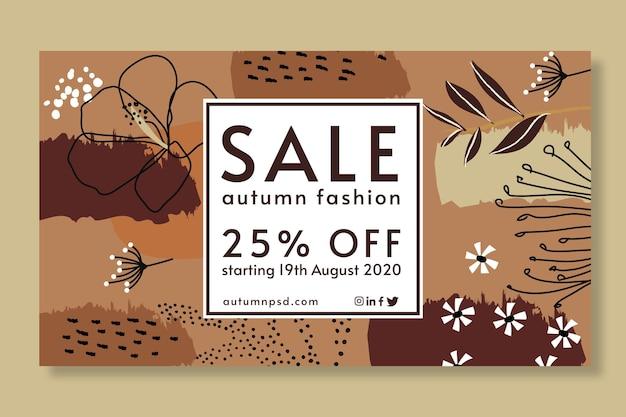 Modèle de bannière de vente d'automne