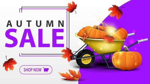 Modèle de bannière de vente automne