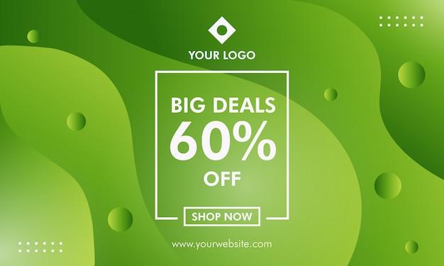 Modèle de bannière de vente big deals