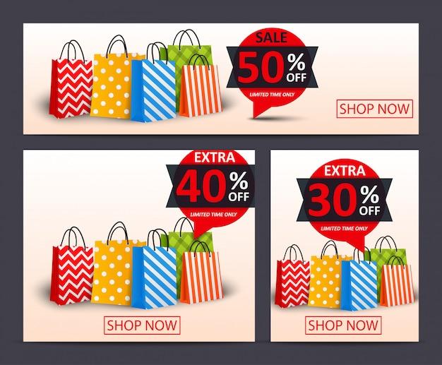 Modèle de bannière de vente discount