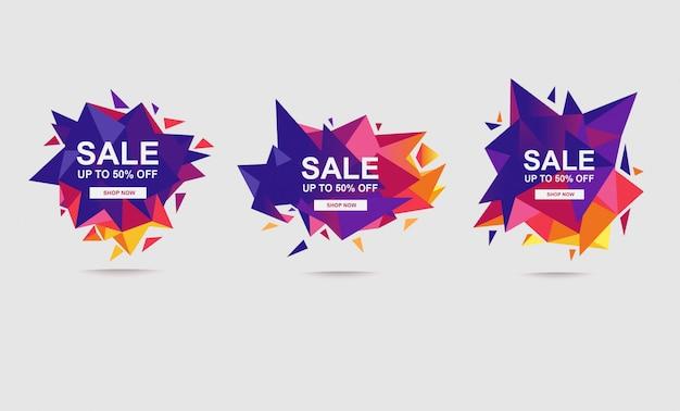 Modèle de bannière de vente fanée abstraite