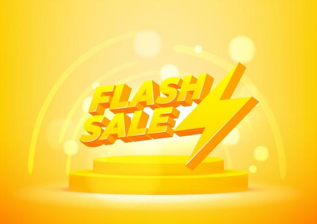Modèle de bannière de vente flash. mise en page pour les achats en ligne, les produits, les promotions, le site web et la brochure. illustration vectorielle.