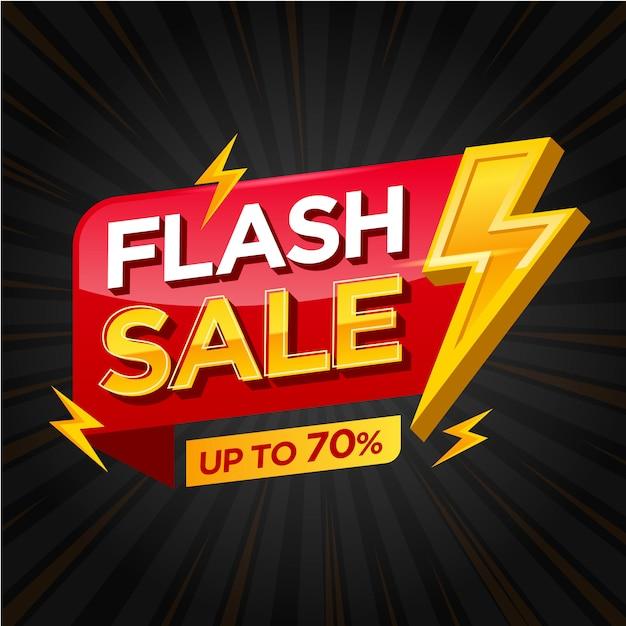 Modèle de bannière de vente flash