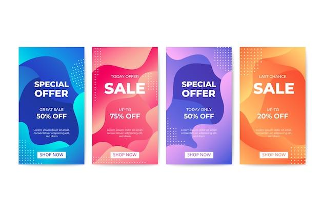Modèle de bannière de vente avec des formes abstraites