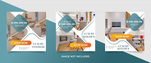 Modèle de bannière de vente immobilier