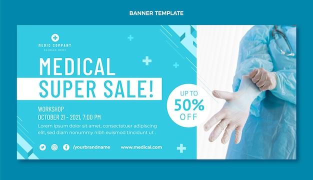 Modèle de bannière de vente médicale
