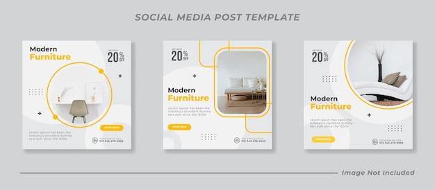 Modèle de bannière de vente de meubles de publication de médias sociaux instagram
