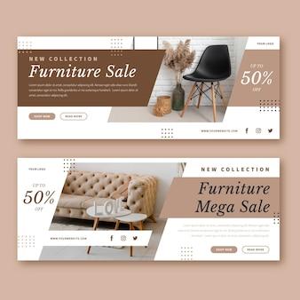 Modèle de bannière de vente de meubles