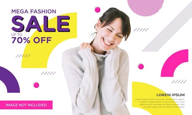 Modèle de bannière de vente de mode promotionnel