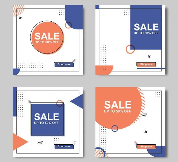 Modèle de bannière de vente modifiable
