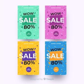 Modèle de bannière de vente, offre de rabais méga deal