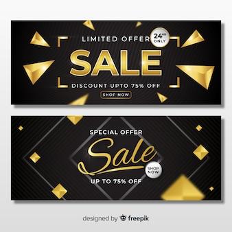 Modèle de bannière de vente d'or