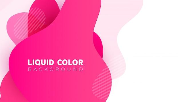 Modèle de bannière vente plastique dégradé liquide ondes. vecteur de conception pour la conception pour mobile